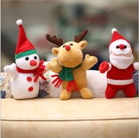 Wholesale Christmas Toy Christmas Gift Small pendant deer Santa Claus ultra soft material Christmas series of plush toys Stuffed animals