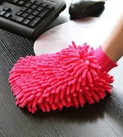Wholesale Coral type Super microfiber snow neil fiber high density clean mitt car washing glove Duster Towels mops Gloves for cleaning dust househould