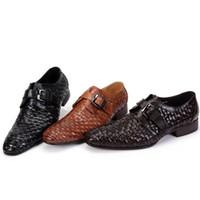 Slip-On Men Genuine Leather 2014 New High Quality Designer Brand Italian Formal Oxford Genuine Leather Men's Dress Plaid Sneakers Shoes gvn7