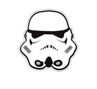 Wholesale 2016 Star Wars Stormtrooper storm trooper Suitcase wall stickers home decor PVC stickers Waterproof party decorations ipad M car stickers