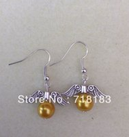 Wholesale 10Pcs Pair The Golden Snitch Harry Potter Style Drop Earrings Fashion Jewelry Eardrop Personality Girl Gift