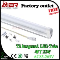 Wholesale Hot sell T8 integrated led tube light W W ft mm CE ROHS Integrated led tube lighting