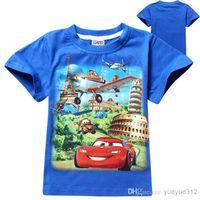 Wholesale 2016 new summer boy T shirts planes children T shirts Pure cotton boy T shirts
