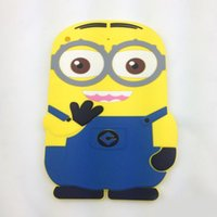 air cartoons - 3D Cartoon Despicable Me Soft Silicone Skin tablet cover Case For Ipad air ipad mini Cute Minions Fashion Back Shell Best Qulality