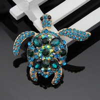 Wholesale 2015 Selling Cheep High grade Lovely Beautiful Turtle Brooches Halloween Funny Brooch Christmas Gift Fashion Jewelry YXZ081