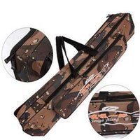 fishing rod bag - pc cm Double Layer Camouflage Fishing Bag Fish Rod Padded Case Sport Outdoor Tackle Storage Bag LA640606
