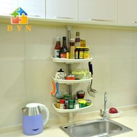 Wholesale BAOYOUNI home storage rack three layer metal spice holder non folding rack flexible spice stand DQ