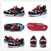 Mesh aqua jogging - Saucony Grid Black Aqua Red Unisex Sports Running Shoes Womens And Mens Jogging Shoe