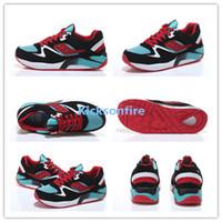 aqua jogging - Saucony Grid Black Aqua Red Unisex Sports Running Shoes Womens And Mens Jogging Shoe