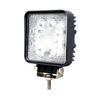 achat en gros de lumières en jeep 4x4-24W 8-LED Light Square travail LED OffRoad SUV ATV 4WD 4x4 spot Poutre IP67 12V / 24V pour Jeep Truck Driving expédition de baisse