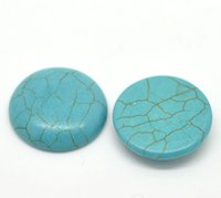 Wholesale 10PCs Turquoise Flatback Round Cabochon Embellishments mm quot Dia