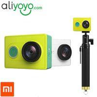 basic edition - Xiaomi Yi Action Camera with Original Monopod XiaoYi Sport Camera Basic and Travel Edition Xiaomi Sports Camera Yi Action Camera