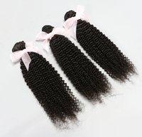 Cheap Honorable Hair!Unprocessed Brazilian Peruvian Malaysian Indian Virgin Hair 3pcs Kinky Curly Human Hair Extensions Hair Weave 6A