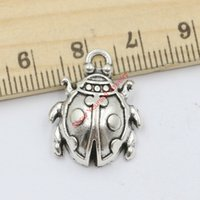 beetle craft - 10pcs Antique Silver Plated Beetle Charms Pendants for Jewelry Making DIY Accessories Handmade Craft X17mm Jewelry making DIY
