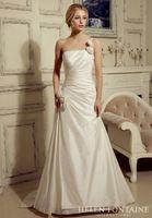affordable wedding flowers - 2016 Vestidos De Novia Affordable Reception Wedding Gowns A line One Shoulder Ruched Taffeta Wedding Dresses With Flower HFW10220