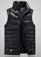 Wholesale Hot Sale Autumn winter Men s feather Vests Big yards loose keep warm Cultivate one s morality feather vests