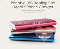 Wholesale 4 hours long heating side heater rechargeable pocket usb hand warmer with mah power bank for sport shopping traveling