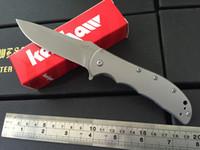 bead blast - OEM Kershaw Volt SS II A O Knife Stainless Steel Bead Blast SS Cr13MOV steel Fine edge Folding blade knife With retail box KS002J