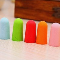 Wholesale 10 Pairs Soft Foam Anti Noise Reduction Soundproof Earplugs Hearing Protection Easy For Sleep Study Colorful For Women Men Kid