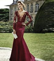 affordable bride - 2016 Popular Mother Of the Bride Dresses Cheap Burgundy Mother Evening Gowns Affordable Beads Deep V Neck Mermaid Dresses Evening Wear