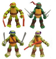 Wholesale TMNT Teenage Mutant Ninja Turtles Movable PVC Action Figure Toys doll model set of Best Gift for Kids by DHL sets