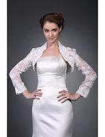 Wholesale Long Sleeves Organza Lace Bridal Jacket Wedding Wrap
