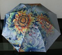 Wholesale Painting umbrella traditional chinese painting umbrella sunflower
