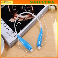 Cheap HV-800 Wireless Bluetooth Sports Neckband Headphones Earphones With MP3 Mic Hands HV 800 For iphone 5 iphone 6 plus Samsung S5 LG Cell Phone