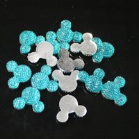 aquamarine bags - Mickey Head Resin Dark aquamarine bag x20mm Mickey Head Shape Flatback Resin Rhinestone High Quality