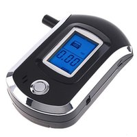 Wholesale NEW Hot selling fashion Professional Mini Police Digital LCD Breath Alcohol Tester Breathalyzer AT6000