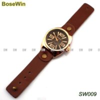 Wholesale Classic Digital Leather Men s Watches With Top Layer Leather Watchband Watch Gift Box SW009 man watch men leather strap watch
