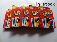 Wholesale 60sets Family Funny Entertainment Board Game UNO Fun Poker Playing Cards Puzzle Games Standard uno card