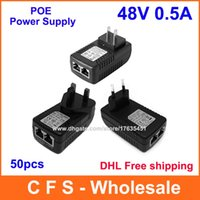 Wholesale DHL V A Wall Plug POE Injector Ethernet Adapter IP Phone Camera Power Supply