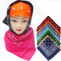 Wholesale 60pcs Cotton Paisley Bandanas Double Sided Head Wrap Scarf Wristband Colors Bandanas