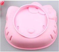 Wholesale 6 inches Head of Hello kitty cake Mold DIY Pudding Jelly Silicone Mold Silicone Muffin Cases Cake Cupcake Mold