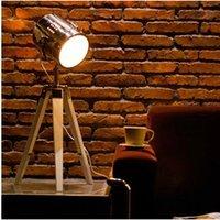 bedroom table lamp sets - 4 Sets Vintage Wood tripod Table Lamp Bedroom