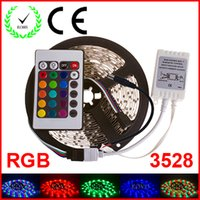 Wholesale RGB LED Strip M Led SMD led m Key IR Remote Controller Flexible Light Led Tape Home Decoration Lamps DC V