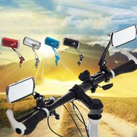 Wholesale 1 Pair Bicycle Bike Handlebar End Rear Rearview Back View Mirror Glass Safety