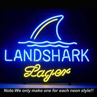 best lagers - Landshark Lager Neon Sign Neon Bulbs Recreation Room Garage Art Neon Signs Glass Tube Handcraft Best Gifts Display x14