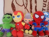 Wholesale cm super hero spider man Green Giant Iron American Captain Thor plush toy for children anime figure plush doll16
