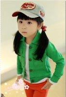 ashion clothes - Korean Autumn Fashion girls Wash denim jacket ashion short coat children candy color cotton clothes