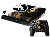 ps4 - Cool Mortal Kombat X front back Vinyl Decal PS4 Skin Stickers Protector For PlayStation Console Skin Stickers for PS4 Controller
