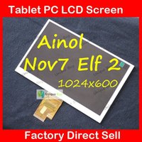 Wholesale quot TFT LCD Screen Replacement for ainol Novo7 elf Tablet PC novo7 elf2 LCD