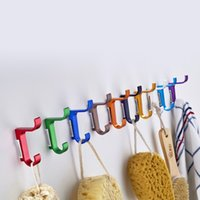Wholesale Quality Colorful Clothing Hooks Space Alumimum Home DIY Towel Wall mounted Hooks Hangers decor east