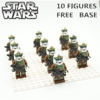 Wholesale 10pcs STAR WARS Boba Fett Robot Storm Soldiers Jedi Yoda Lightsaber Clone War The Force Awakens Minifigures Building Blocks Kids Toy Gift