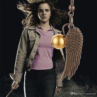 antique bronze chandeliers - 2 colors Harry Potter Golden Snitch Earrings Drop Earrings Antique Bronze Silver Wings for Women statement jewelry movie jewelry