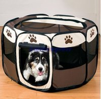 Wholesale Pet Products Dog Supplies Pet Bed Kennel Dog House USA Pet Tent Pens Cage Oxford Fabric Steel Frame