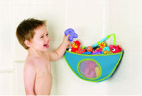bath and kid - Newest Rose Red Baby Kids Bath Tub Waterproof Toy Hanging Storage Triangle Bag and Drop Shipping