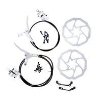 Wholesale Hydraulic Bicycle Front Rear Disc Brake Set MTB Bike Oil Disc Braking Rotor Levers Bicycle Refit