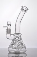 shower base - 2 Function Breaker Base Much Hole Recycler Fab Egg Thick Glass Bongs Glass water Pipes With Shower Head Perc Bong Smoking Pipe